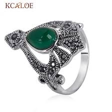 black crystal rings images Kcaloe big retro black crystal rhinestones women ring vintage jpeg