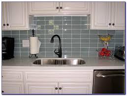 Gray Glass Subway Tile Backsplash - blue gray glass subway tile backsplash tiles home design ideas
