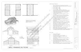 Wall Blueprints Free Sample Barn Plan Download G339 52 U0027 X 38 U0027 Barn Plan
