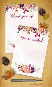 free printable halloween baby shower invitations free fall invitations 4x6 blank invitations www teepeegirl com