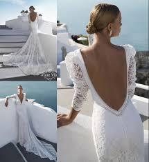 julie vino long sleeves african wedding dresses backless