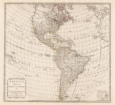 Map Of Western Hemisphere 1794 America Divided Into North And South With Their Several