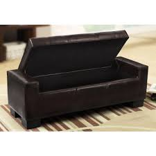 home decorators collection classic storage ottoman in dark brown