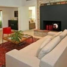 miami red rug home living room contemporary with open concept