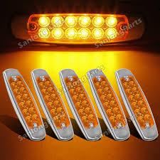 peterbilt 379 cab marker lights 5 amber peterbilt type incandescent marker clearance sleeper panel