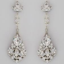 bridal chandelier earrings erin cole bridal earrings large teardrop chandelier earrings