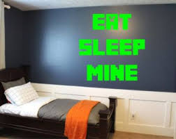 Minecraft Bedroom Decals by 32 Best Minecraft Room Images On Pinterest Minecraft Room