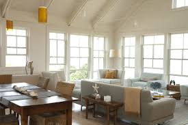 contemporary dining area in a great room dining room decorating