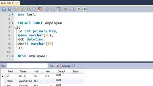 employee table sql queries sql tutorial 9 create table statement youtube