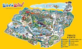 Map Of Orlando Theme Parks by Park Map Wet U0027n Wild