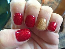 my cnd shellac christmas nails by christy clow