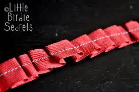 ruffle ribbon easy ribbon ruffle tutorial birdie secrets