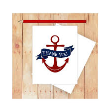 nautical thank you cards anchor thank you card nautical thank you card nautical thank