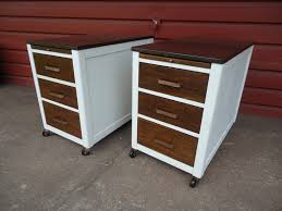 Wood File Cabinet With Lock by Furniture Simple White And Brown File Cabinets With Locking File