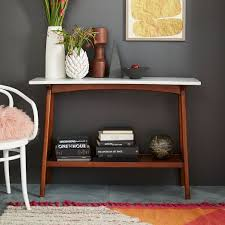 Mid Century Console Table Reeve Mid Century Console West Elm