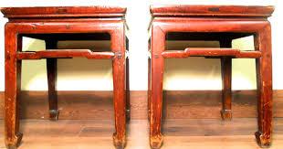 antique chinese ming meditation bench 3274 pair circa 1800
