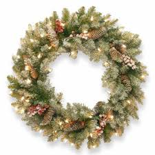 national tree company 24 dunhill fir pre lit wreath jcpenney