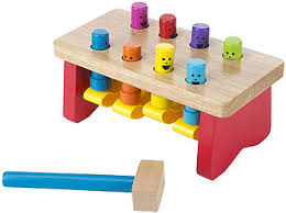 Melissa And Doug Train Table Melissa U0026 Doug Deluxe Pounding Bench Wooden Toy With Mallet Toys