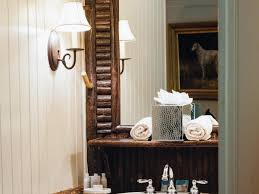 Rustic Bathrooms Rustic Bathroom Lighting Hgtv