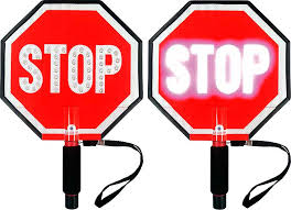 stop sign with led lights stop stop stop slow flashing led hand held paddle signs traffic