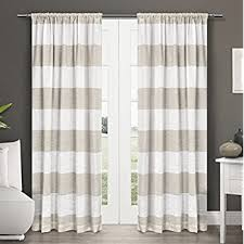 Beige And Gray Curtains Exclusive Home Curtains Darma Linen Sheer Rod Pocket
