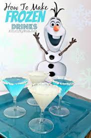 frozen party idea blue jello cake frozen