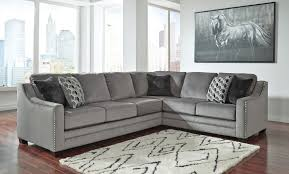 bicknell charcoal left sofa sectional benchcraft furniture cart