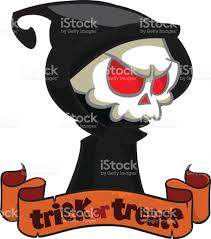 cute cartoon grim reaper isolated on white cute halloween skeleton