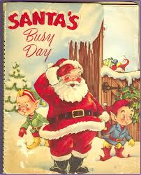 mechanical christmas book santa u0027s busy day 1953 early pop up