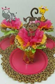 Safari Baby Shower Centerpiece by Adriana U0027s Creations Baby Shower Theme Centerpieces Baby Shower