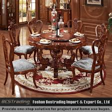 Large Wooden Dining Table by Solid Wooden Round Dining Table With Rotating Centre Buy Solid