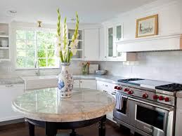 French Kitchen Island Marble Top Round Kitchen Islands Pictures Ideas U0026 Tips From Hgtv Hgtv