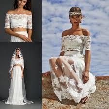 Wedding Dresses 2011 Summer Discount Summer Beach Wedding Dresses 2015 Two Piece Wedding