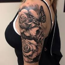 free will nash tattoos and butterfly on