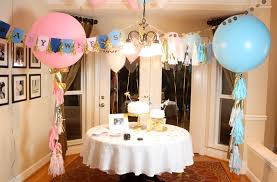 gender reveal party decorations pops of gold gender reveal party pizzazzerie