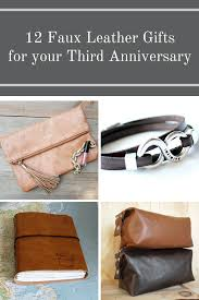 3rd wedding anniversary gift 12 faux leather gifts for your third anniversary png
