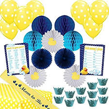 amazon com 45 piece u201clittle quack u201d baby shower decoration kit for