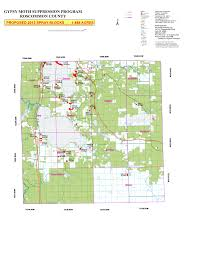 Michigan County Map With Roads by Spray Season Maps Roscommon County Mi