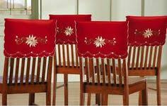 christmas chair back covers set of 4 christmas elegance embroidered chair back covers