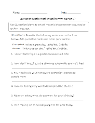 englishlinx com quotation marks worksheets