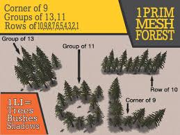 Decorative Pine Trees Second Life Marketplace 1 Prim Mesh Pine Tree Forests 1li Mesh