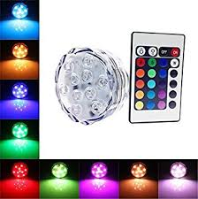 waterproof submersible color changing led lights