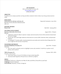 13 Student Resume Examples High by Undergraduate Student Resume Sample 13 Undergraduate Resume