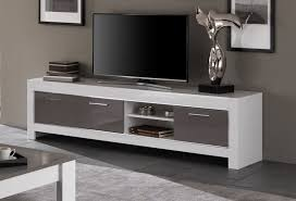 meuble elevateur tv meuble tv blanc gris laqué u2013 artzein com