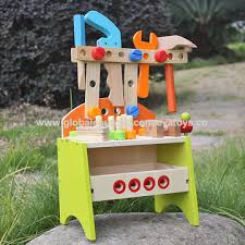 Toy Wooden Tool Bench China 2017 New Products Preschool Toy Wooden Kids Tool Bench