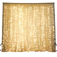 wedding backdrop lights 600 sequential warm white led lights organza curtain backdrop 20ft