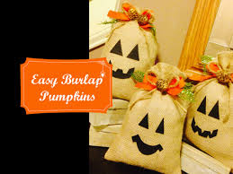 youtube halloween crafts hallocraft ep 6 super easy burlap bag pumkin decor youtube