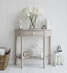 white half moon table console tables for hall and living room furniture in grey white and