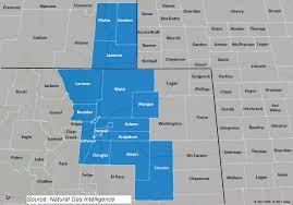 Denver Terminal B Map Information On The Niobrara Dj Basin