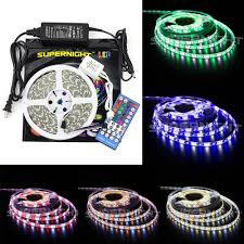 supernight 16 4ft rgbw color changing led strip light kit with